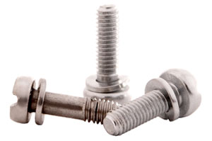 Screws with pre-assembled washers