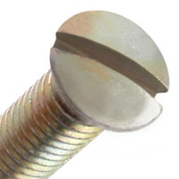 Screw Domed slotted countersunk head